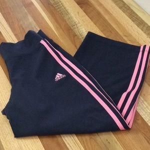 Adidas 3 Stripe Yoga Capri Pants